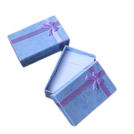 Leisial 10pcs Mini Caja de Regalo Mariposas Caja de Anillo Portátil Caja de Collar Pendientes Regalo