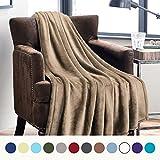 Flannel Fleece Luxury Blanket Camel Twin Size Lightweight Cozy Plush Microfiber Solid Blanket by Bedsure