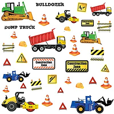 RoomMates Construction Trucks Peel And Stick Wall Decals: Home Improvement