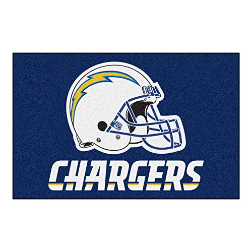 FANMATS NFL San Diego Chargers Nylon Face Starter Rug