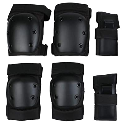 QTT Sports Roller Protective Gear, 6 Piece Suit,Hand/Elbow/Knee Pads, Adult Skating Protective Gear, (Size : M): Home & Kitchen