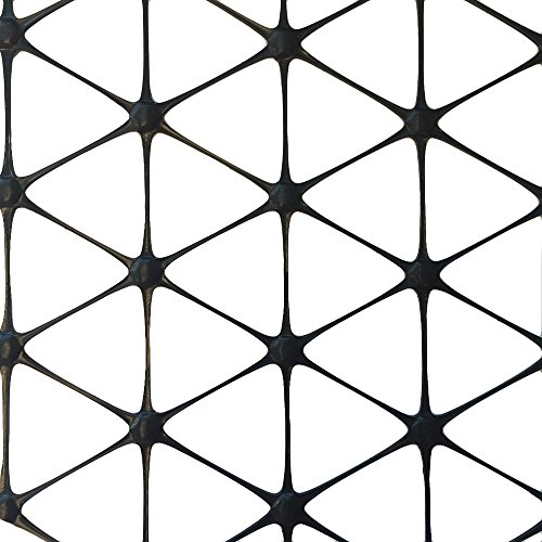 EarthLock Hardscaping 6 ft. x 60 ft. TriAx GeoGrid Black Polypropylene Patio/Paver Base (Patio Base Gravel)