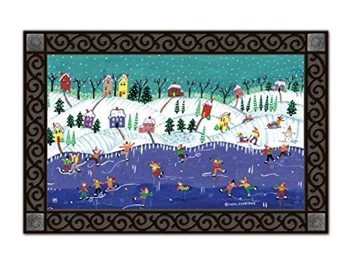 Ice Village (Snow Day Winter Doormat Village Ice Skating Indoor Outdoor 18