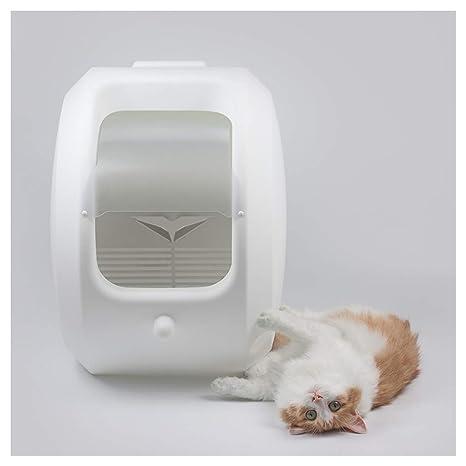 Caja de Arena para Gatos con autolimpieza y autolimpieza, Cubierta, Bandeja de Basura Litter