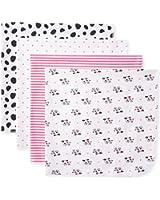 Gerber Baby 4 Pack Flannel Receiving Blankets