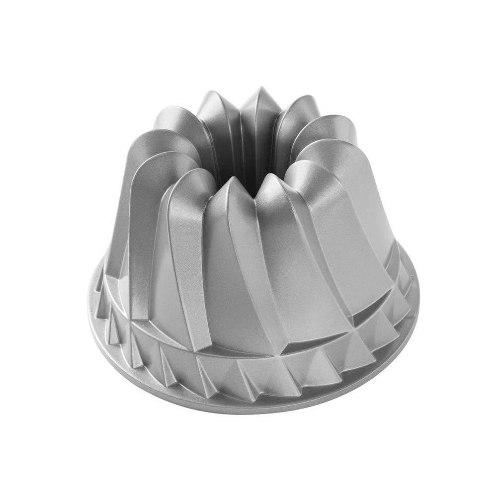 Nordic Ware 59937 Kugelhopf Bundt Cake Pan, 9 x 9 x 5.125'', Gray