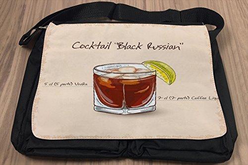 Borsa Tracolla Bar Party Cocktail black russian Stampato