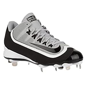 Nike Huarache 2KFilth Pro Low Wolf Grey/White/Black Mens Metal Baseball Cleats Shoes, Size 11 (US)