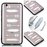 Xiaomi Redmi 5A Case, Ngift [Feathers] [2 in 1] [Scratch Resistant Anti-fall] fashion Soft TPU Shockproof Case Cover for Xiaomi Redmi 5A