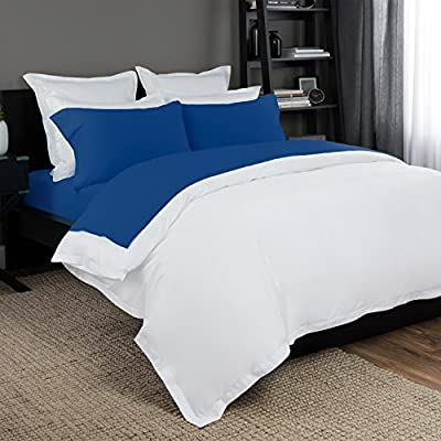 "Briarwood Home 150 GSM Solid Jersey Deep Pocket Bed Sheet Set, 100% Soft & Stretchy Jersey Cotton Bed Sheets (Twin, Cobalt Blue) - ULTRA SOFT AND COZY: 100% Soft & Stretchy Jersey Cotton Bed Sheets. Made of soft and breathable natural fibers. Imported. GREAT VALUE: Bed sheet set includes 1 Flat Sheet (Twin, Twin XL: 66"" W x 96"" L Full: 81"" W x 96"" L Queen: 90""W x 102""L King, Cal King: 108"" W x 102"" L) 1 Fitted Sheet (Twin: 39"" W x 74"" L x 10"" D Twin XL: 39"" W x 80"" L x 10"" D Queen: 60"" W x 80"" L x 14"" D King: 78"" W x 80"" L x 14"" D Cali King: 72"" W x 84"" L x 14"" D) and Pillowcases (1 for Twin & Twin XL / 2 for Queen: 20"" W x 30"" L King: 20"" W x 40"" L). COLORS AVAILABLE: White, Ivory, Vanilla, Grey, Blue, Teal & Cobalt Blue. EASY CARE: Machine washable and dryable bed sheet set. Wash in cold water with similar colors, tumble dry on low. For best use, wash separately on first use. - sheet-sets, bedroom-sheets-comforters, bedroom - 51JUgs8kd8L. SS400  -"