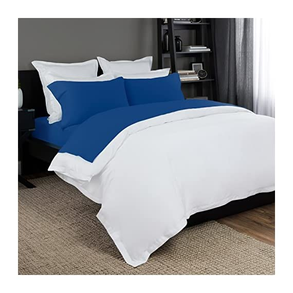 Briarwood Home Easy Fit Jersey Sheet Set - Extra Soft 100% Cotton, Jersey Knit (T-Shirt) Breathable Bed Sheets, 150 GSM Deep Pocket - Comfortable & Durable - All Season Bedding Sheets (Twin, Cobalt Blue) - ✔NON-WRINKLY & COZY: Ultra-stretchy jersey sheet set will spread evenly on your mattresses leaving no wrinkles at all. Coordinate with duvet covers, pillowcases, and sheets. ✔Highly Extendable Cotton Fibers: Which Reduce anxiety and sleep restfully on our 100% cotton jersey sheet set. ✔COLORS AVAILABLE: White, Ivory, Vanilla, Grey, Blue, Teal & Cobalt Blue. - sheet-sets, bedroom-sheets-comforters, bedroom - 51JUgs8kd8L. SS570  -