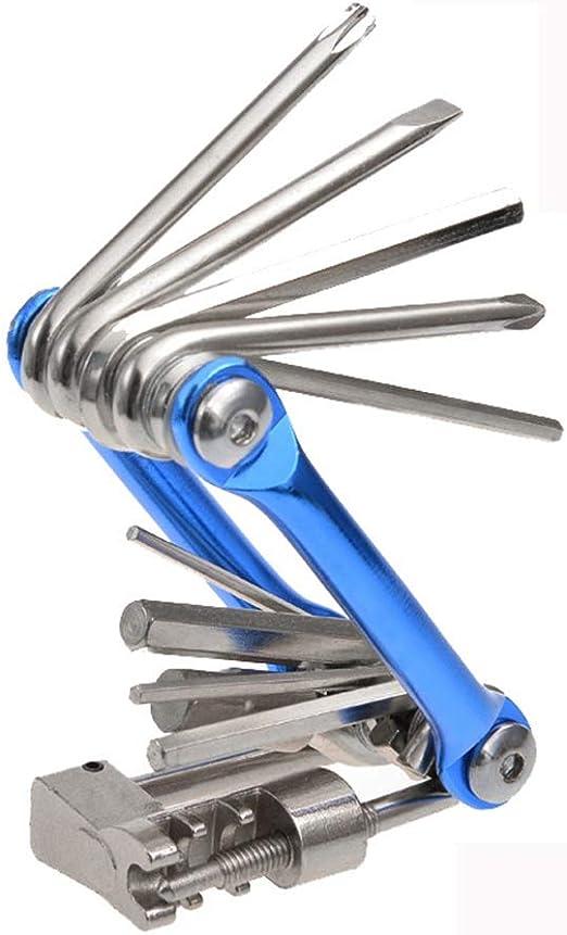 Multi-tool Bicycle Repair Tools Hex Spoke Wrench Screwdriver 10 In 1 Kit Set FF