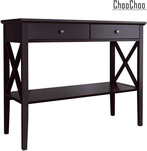 Metal Skinny Console Table – Slim Profile w Mirror Top 56×30
