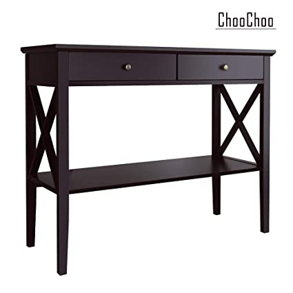 Fine Choochoo Console Sofa Table Classic X Design With 2 Drawers Entryway Hall Table Accent Table Easy Assembly Espresso Bralicious Painted Fabric Chair Ideas Braliciousco