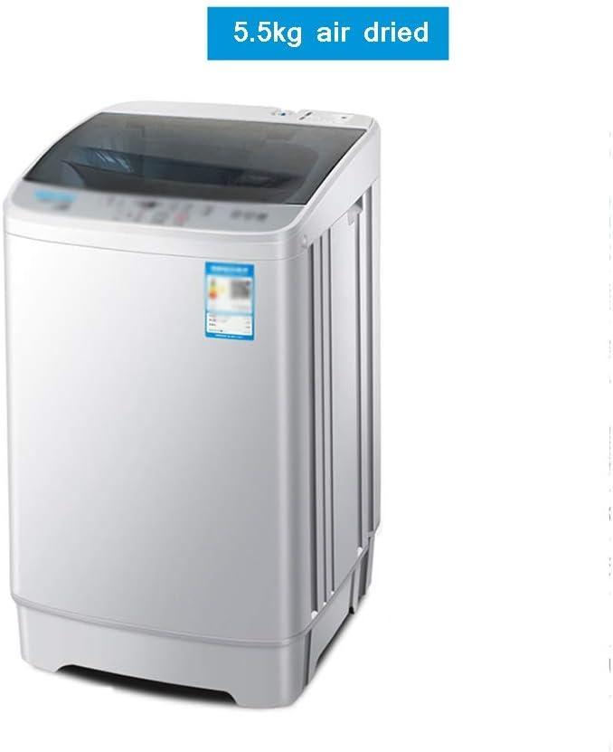XSJZ Lavadora, 5.5kg / 7kg Cilindro Simple de Gran Capacidad Portátil Y Compacto Rueda de Onda Pequeña Mini Mini Secador Rotatorio de Aire para Dormitorios En El Hogar Lavatrice Slim (Color : A)