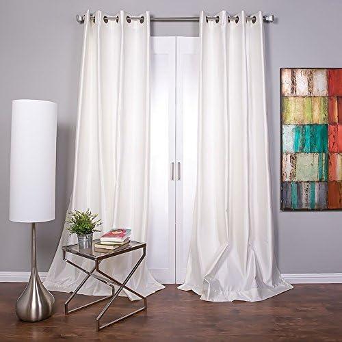 Lambrequin Mia Textured Faux Silk Grommet Curtain Panel