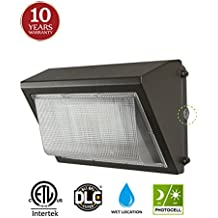 LED Wall Pack with Dusk-to-dawn Photocell, 60W Waterproof Outdoor Commercial Lighting Fixture, 200-300W HPS/MH Replacement, 5000K 7200lm 100-277Vac ETL DLC Listed 10-year Warranty by Kadision