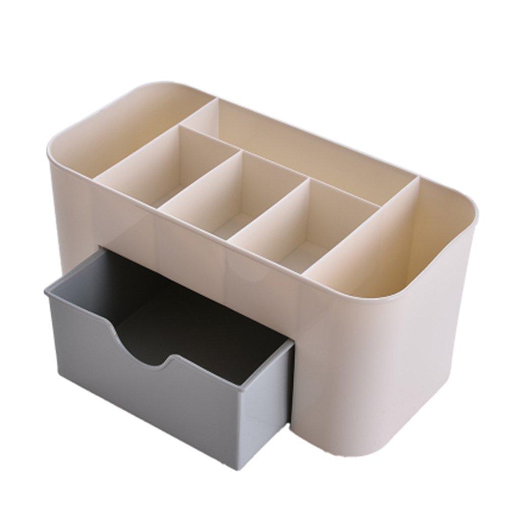 Leisial Make-Up Etuis Multifunktion Desktop-Aufbewahrungsbox Schubladenstil Kosmetische Aufbewahrungsbox Blau 22*11*10CM