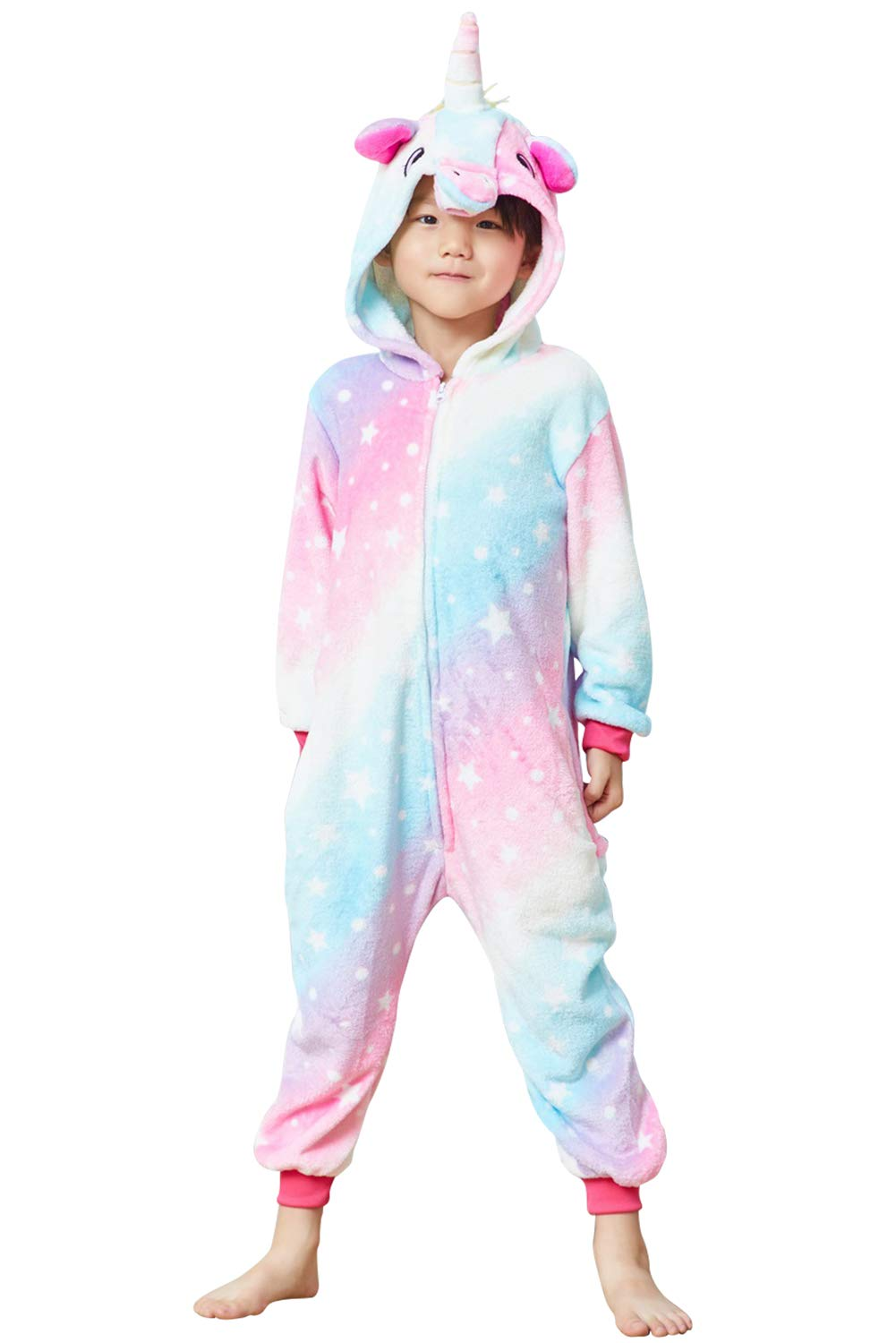 Lovely Kids Unicorn Onesie Pajamas Girls Animal Costume Chlidren Halloween Cosplay 3
