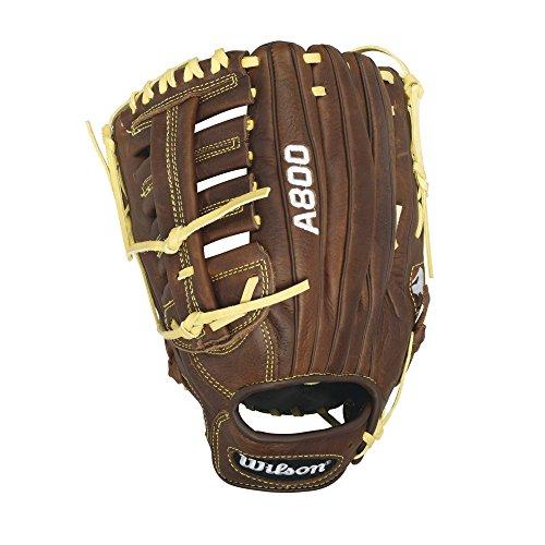 """Wilson Showtime Baseball Gloves, Brown/Blonde, 12.5"""", Lef..."""