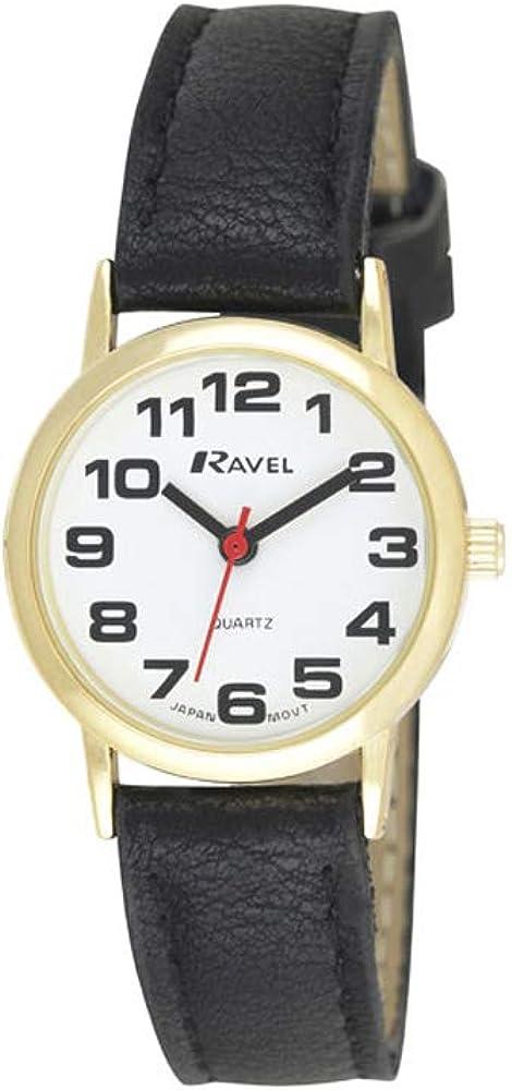 Ravel - Reloj Unisex de Correa de fácil Lectura con números Grandes