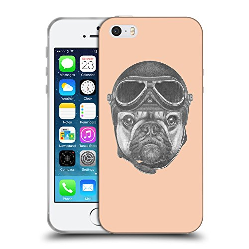 GoGoMobile Coque de Protection TPU Silicone Case pour // Q05250604 Casque bulldog Abricot // Apple iPhone 5 5S 5G SE