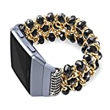 for Fitbit Ionic Bands, eGenPlus Rhinestone Bracelet for Women Men, Replacement Strap Fitness Wrist Band for Fitbit Ionic Smart Watch Accessory, More Colors