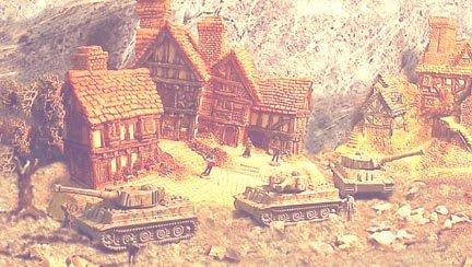 Miniature Micro Machine German TIGER I Tank - LOT of THREE!