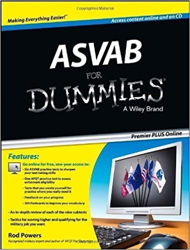 Book ASVAB For Dummies: Premier PLUS (For Dummies (Career/Education)) by Powers, Rod 1st (first) (2013)