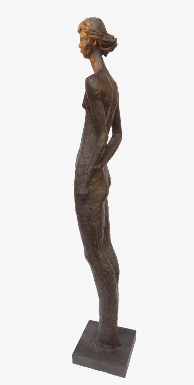 XL Skulptur nackte Frau Bronze Optik abstrakte Kunst modern 81 cm