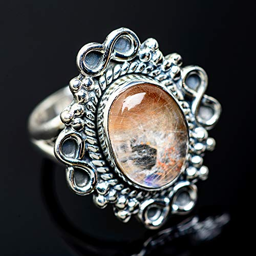 Ana Silver Co Rutilated Quartz Ring Size 6.5 (925 Sterling Silver) - Handmade Jewelry, Bohemian, Vintage RING954263