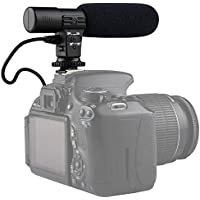 SUPON Mic-01 Digital Video Dv Camera Professional Studio/stereo Shotgun Recording Microphone for Canon Nikon Pentax Olympus Panasonic Digital SLR Camera