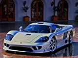 Saleen S7 Car Art Poster Print on 10 mil Archival Satin Paper Gray Front Passenger Side View 20
