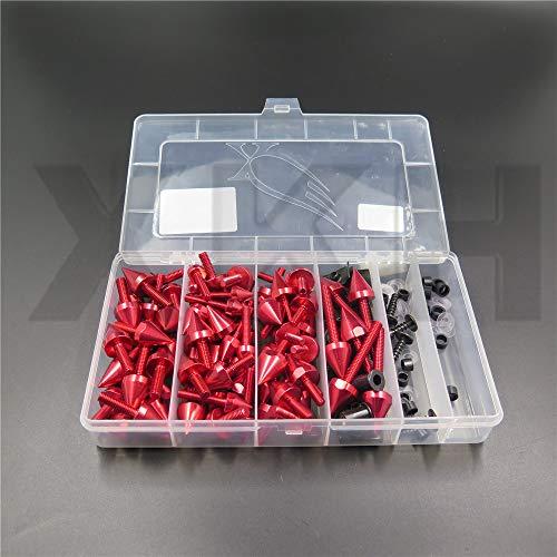 - XKH- Replacment of Spike Fairing windscreen Bolts kits Screws For Suzuki GSXR600 750 1000 Hayabusa RED Motorcycle new/Kawasaki Ninja EX250 ZX14 ZX7 ZX9R