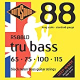 Rotosound RS88LD Black Nylon Flatwound Long Scale Bass Guitar Strings (65-115)