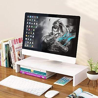 UYASDASFAFGS Multimedia Bambú Soporte para Monitor,Escritorio ...