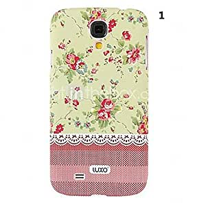 LZX Pink Base Lace Series Flower Pattern Relief Back Case for Samsung Galaxy S4 i9500(Assorted Color) , 3