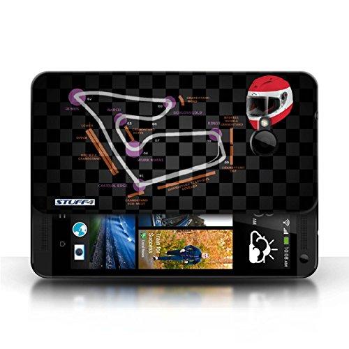 Etui / Coque pour HTC One/1 M7 / Autriche/Spielberg conception / Collection de 2014 F1 Piste