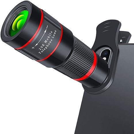 WQYRLJ Lente De La Cámara 20X Lente Gran Angular HD Telescopio Monocular De Teléfono para iPhone 11 X MAX XR X 7 8 Plus para Android Smartphone: Amazon.es: Deportes y aire libre