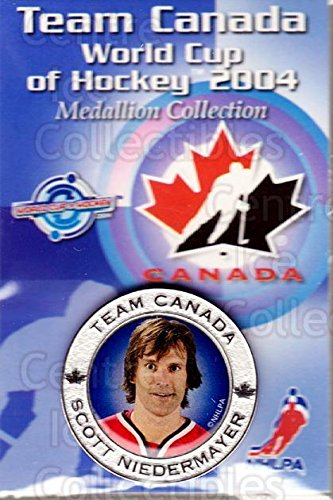 - (CI) Scott Niedermayer Hockey Card 2004 Team Canada World Cup Medallion 4 Scott Niedermayer