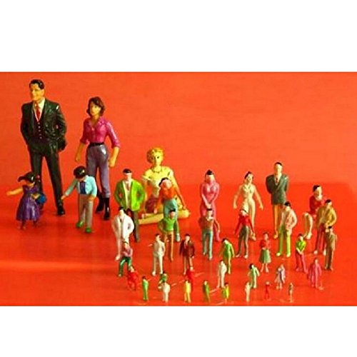 Diy 2 Person Costume (100 Pcs/Pack Colorful People Model Train Railroad Scenery 1:100 Sand Table Model People 2Cm Height)