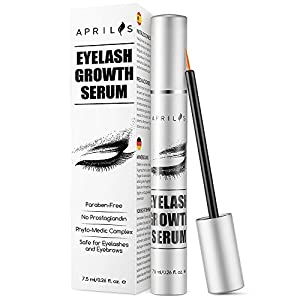 Aprilis Eyelash Growth Serum, 7.5 ml Eyelash and Eyebrow Growth Enhancer for Naturally Longer, Fuller and Thicker Lashes and Brows
