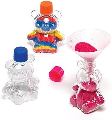 Botellas de plástico en Forma de Ositos para Decorar con Arena de Colores Que los niños Pueden llenar y exhibir como Manualidades veraniegas (Pack de 5).: Amazon.es: Juguetes y juegos