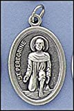 St. Peregrine Oval Patron Saint Medal on Flip Ring