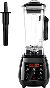 TJQTJQ Digital Touchpad Blenders, 2L Automatic Professional Mixer Juicer High Power 45000RPM Food Processor Ice Smoothies Maker Fruit Juicer,Black