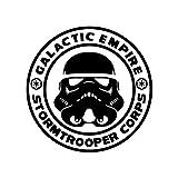 Athena Star Wars Galactic Empire Stormtrooper Corps Black Decal Vader Sith Skywalker Vinyl Window Auto Truck SUV Waterproof Bumper Sticker Size: 6'