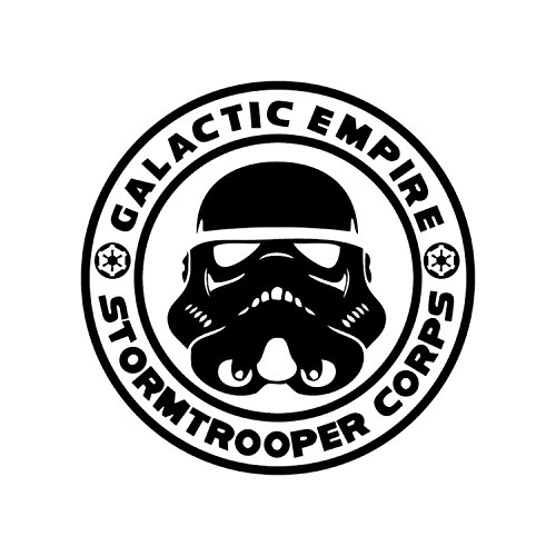 Athena Star Wars Galactic Empire Stormtrooper Corps Black Decal Vader Sith Skywalker Vinyl Window Auto Truck SUV Waterproof Bumper Sticker Size: -