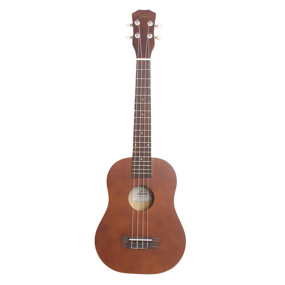 Lovinland 26'' Wooden Ukulele Hawaiian Ukulele Beginner Guitar Toys Rosewood Fingerboard with Bag