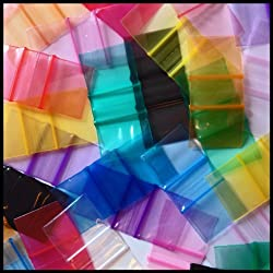 "1034 Apple Mini Ziplock Baggies Color Mix 100 Bags 1"" X 3/4"""