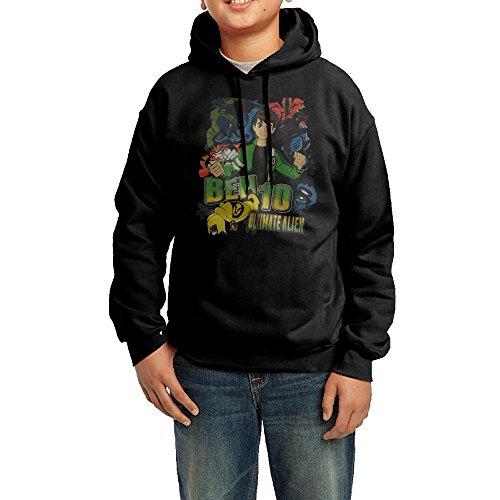 Ben 10 Ultimate Alien Junior Classic Pullover Athletic Sweatshirt Hoodies (Ben 10 Ultimate Alien Ben And Gwen)